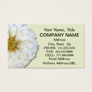 Business Cards - White Zinnia