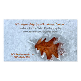Business Cards with a touch of Nature