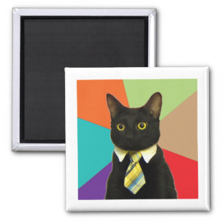 Business Cat Advice Animal Meme Magnet