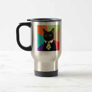 Business Cat Advice Animal Meme Mugs
