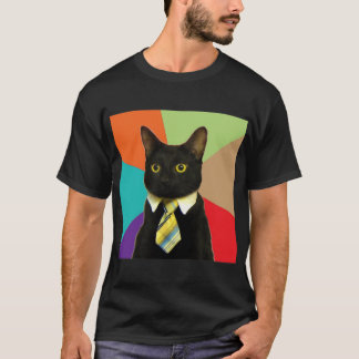 Business Cat Advice Animal Meme T-Shirt
