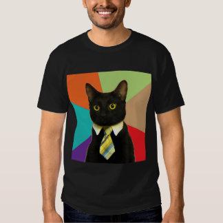 Business Cat Advice Animal Meme Tees
