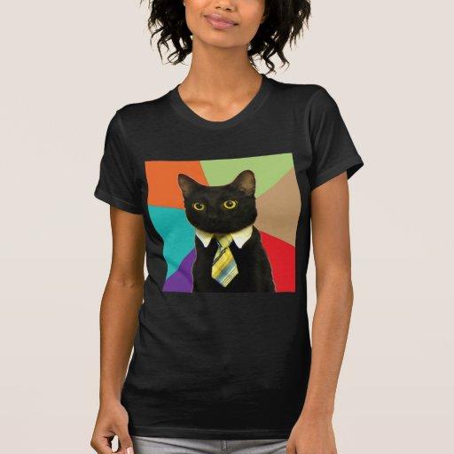Business Cat Advice Animal Meme Tshirt
