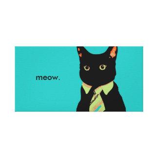 Business Cat Artwork Canvas Print