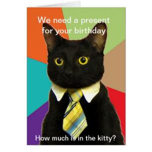 business_cat_birthday_card rad2c9f6e13a842e8bbd799108ab4da2d_xvuat_8byvr_307 meme birthday cards greeting & photo cards zazzle