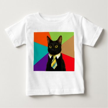 Professional Business business cat - black cat baby T-Shirt