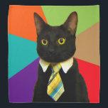"""business cat - black cat bandana<br><div class=""""desc"""">, cat , &quot;cat memes&quot; , &quot;office cat &quot;, &quot;boss cat&quot; , pet , kitty , kittens , &quot;tabby cat&quot; , &quot;cute cats&quot; , &quot;funny cats&quot; , </div>"""