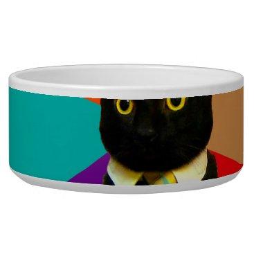 Professional Business business cat - black cat bowl