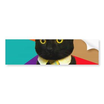 Professional Business business cat - black cat bumper sticker