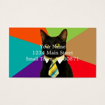 Professional Business business cat - black cat business card