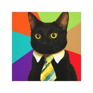 Professional Business business cat - black cat canvas print