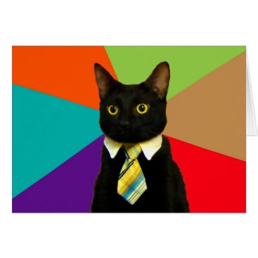 Professional Business business cat - black cat card