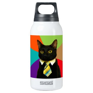 Professional Business business cat - black cat insulated water bottle