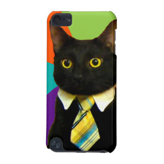 business cat - black cat iPod touch 5G cover