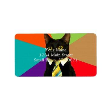 Professional Business business cat - black cat label