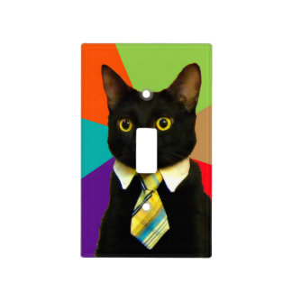 business cat - black cat light switch cover