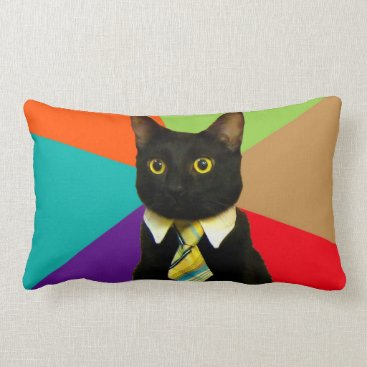 Professional Business business cat - black cat lumbar pillow