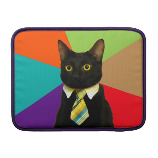 business cat - black cat MacBook sleeve
