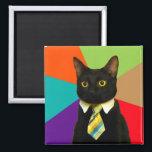 """business cat - black cat magnet<br><div class=""""desc"""">, cat , &quot;cat memes&quot; , &quot;office cat &quot;, &quot;boss cat&quot; , pet , kitty , kittens , &quot;tabby cat&quot; , &quot;cute cats&quot; , &quot;funny cats&quot; , </div>"""