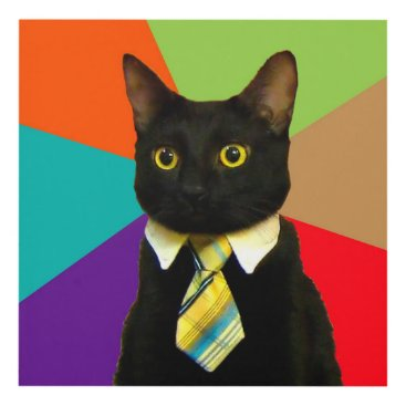 Professional Business business cat - black cat panel wall art
