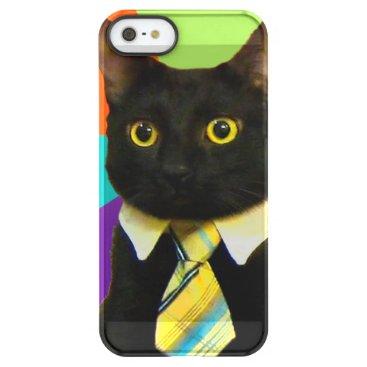 Professional Business business cat - black cat permafrost iPhone SE/5/5s case