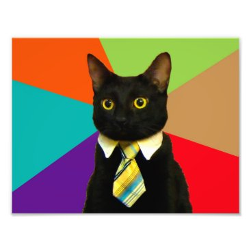 Professional Business business cat - black cat photo print