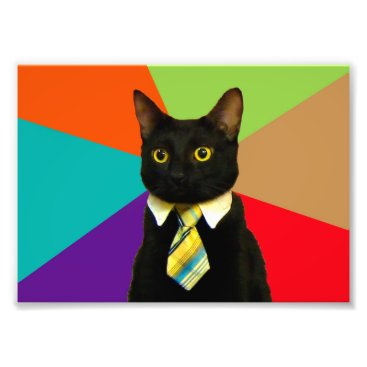 Professional Business business cat - black cat photo print