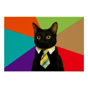 Professional Business business cat - black cat poster