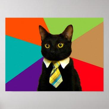 Professional Business business cat - black cat poster