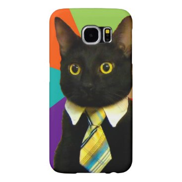 Professional Business business cat - black cat samsung galaxy s6 case