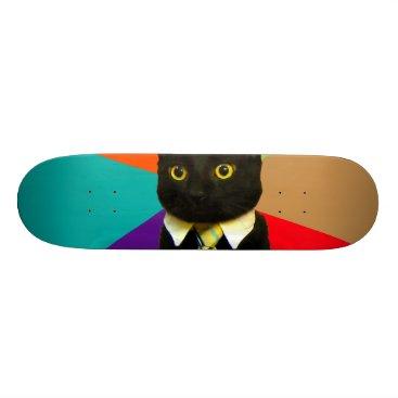 Professional Business business cat - black cat skateboard