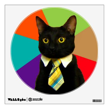 Professional Business business cat - black cat wall decal
