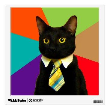 Professional Business business cat - black cat wall sticker