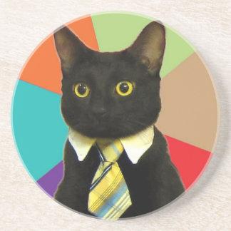 Business Cat Coaster