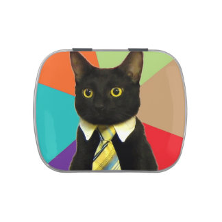 Business Cat Jelly Belly Candy Tin