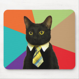 Business Cat Mousepad Meme