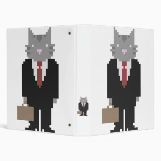 Business Cat Pixel Art Binder