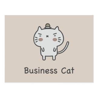 Business Cat Postcard