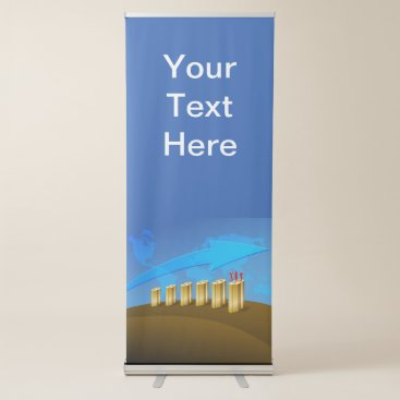 Business Chart Retractable Banner