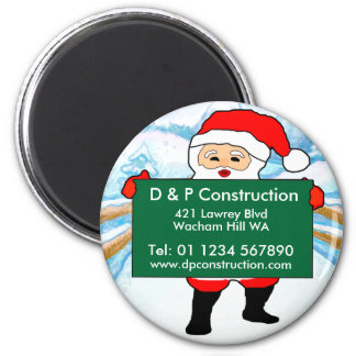 Business Christmas Advertising 2 Inch Round Magnet