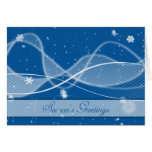 Business Christmas Card with linear gradients snow