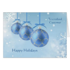 Business Christmas Customers - Christmas baubles Card at Zazzle
