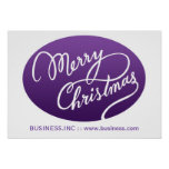 Business Christmas Modern Swirly Type Purple Poster