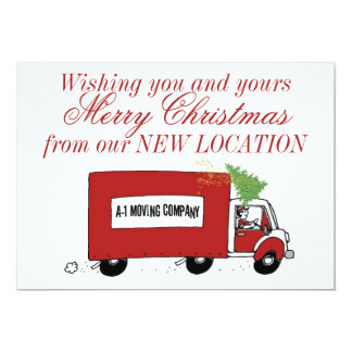 Business Christmas New Address We have moved Card