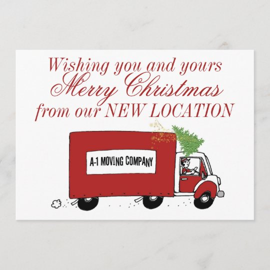 Business Christmas New Address We Have Moved Holiday Card Zazzle Com
