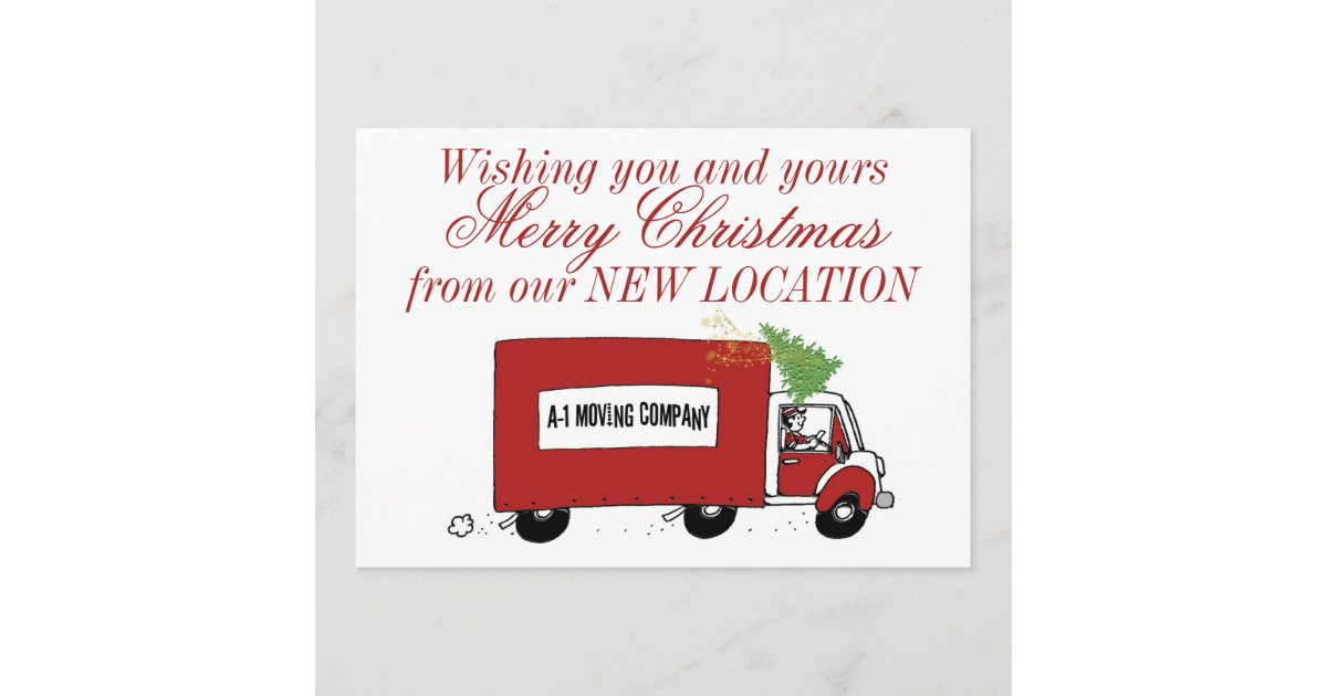 Business Christmas New Address We have moved Holiday Card   Zazzle.com