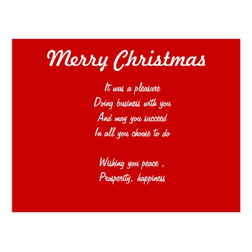 Business christmas postcards