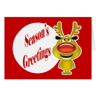 Business christmas wishes greeting card