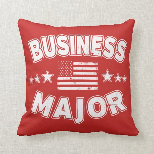 Business College Major Patriotic American Flag Throw Pillow