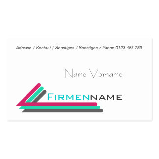 business colors Double-Sided standard business cards (Pack of 100)